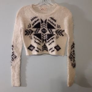 Hollister Eyelash Knit Fair Isle Sweater